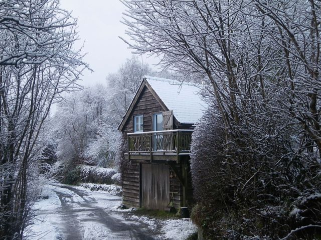 The Gorfanc Hideaway in winter