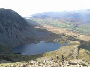 View of Llyn y Gadair from Cadair Idris