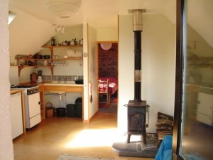 The Gorfanc Hideaway kitchen area